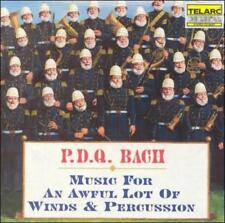 P.D.Q. BACH: MUSIC FOR AN AWFUL LOT OF WINDS & PERCUSSION USED - VERY GOOD CD