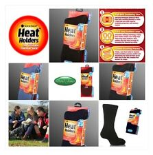 6 Pairs Mens GENUINE Thermal Winter Warm Heat Holders Socks size 6-11 uk