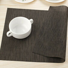 PVC Home Kitchen Dining Weave Woven Table Placemats Heat Insulation Place Mats