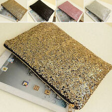 Sparkling Sequins Clutch Evening Party Bag Handbag Women Tote Fashion Purse New