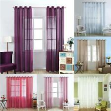 Multi Colors Window Sheer Drape Blind Shade Gauze Curtains Home Decor Valance