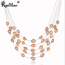 New RAVIMOUR Simulated Pearl Choker Necklace for Women Fashion Baroque Perlas