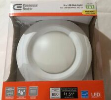 Commercial Electric 6 in. Recessed Soft White LED Disk Light T67 Lot of 4, 12