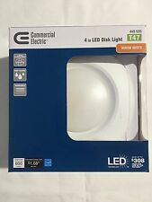 Commercial Electric T47 4 in. Soft White Recessed LED Can Disk Light Lot of 4,12
