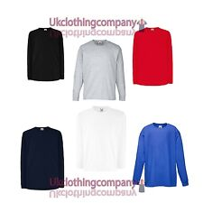 Childrens Fruit of the Loom long sleeve Cotton t-shirt-kids long sleeve top14-15