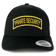Private Security Tab Embroidered Iron on Patch Mesh Back Trucker Cap