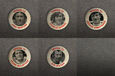 ARSENAL FC 60s RETRO STYLE BUTTON PIN BADGES RADFORD GEORGE McLINTOCK ARMSTRONG