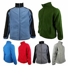 Mens Location Full Zip Warm Polar Fleece Jacket Anti Pill Work Winter Coat FZ