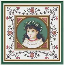 Victorian Cutie Girl Counted Cross Stitch Chart Pattern PDF or Print Full Stitch