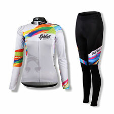 SPAKCT Women Long Sleeves Cycling Jersey Pants Tights set Bicycle Suits-Provence
