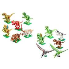 6 Sets Dinosaur Blocks Building Figures Minifigures Kids Educational Toys