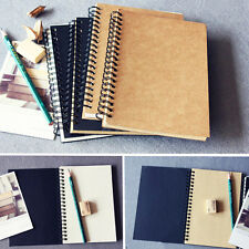 Retro Spiral Coil Notebook Sketchbook Diary Journal Student Note Pad Book Memo