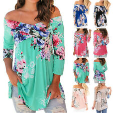 New Ladies Plus Size Top Casual Shirt Summer Womens Long Blouse Tops Tunic 6-20