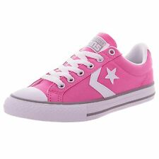 Converse Star Player Ox Chuck Pink White Youth Canvas Low-top Trainers Shoes