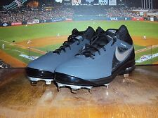 NIKE AIR MAX MVP ELITE 3/4 METAL MEN'S BASEBALL CLEATS BLACK / GREY