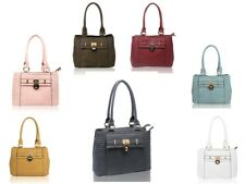 New Womens Lock Details Tote Top-Handle Handbag/Ladies Qulited Shoulder Bag