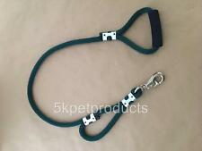 TWO HANDLE HEAVY DUTY ROPE LEASH COMFORT HANDLE SNAP CHOICE HUNTER GREEN