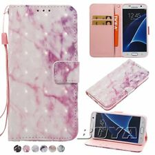 Wallet Folding PU Leather Case For Samsung Galaxy S8 Plus Phones Marble Cover
