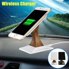 All Car Rotatable Qi Wireless Fast Charger Desktop Charging Stand Phone Holder