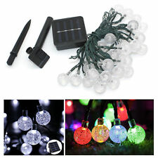 30 Outdoor LED Solar Powered Fairy String Lights Garden Christmas Wedding Party