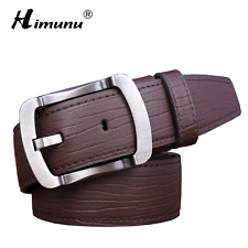 New Leather Genuine Cowhide 100 Belt 1 Sizes 1300 Made Belts Brown Men Pin