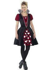 Ladies Teenager Deluxe Queen Of Hearts Costume Halloween Fancy Dress 01 - 44335