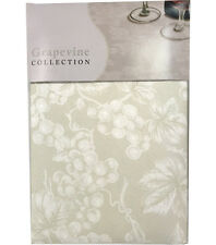 NEW Grape Vine Vinyl Tablecloth - Ivory