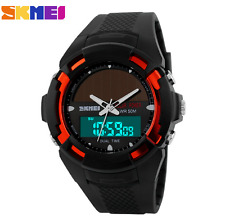 NEW Waterproof Solar Energy Solar Watch LED Digital Quartz Wrist Watch