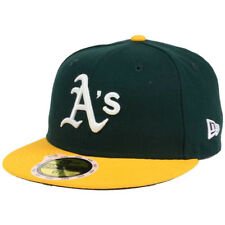 New Era 5950 Youth Oakland Athletics 2017 HOME Fitted Hat (Green/Yellow) MLB Cap