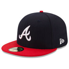 New Era 5950 Youth Atlanta Braves 2017 HOME Fitted Hat (Navy/Red) MLB Cap