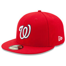 New Era 5950 Youth Washington Nationals 2017 HOME Fitted Hat (Red) MLB Kid's Cap