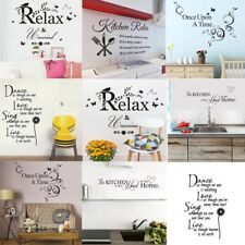Wall Stickers Quotes Saying Vinyl Kitchen Bedroom Home Decal Mural Art Decor DIY