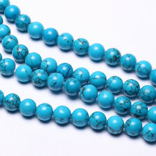 Blue Striped Howlite Turquoise Gemstone Beads Round Loose Beads 4,6,8,10,12mm
