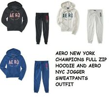 NWT AEROPOSTALE FULL ZIP UP HOODIE JOGGER SWEATPANTS OUTFIT S M L XL XXL(2XL)