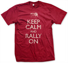 MENS - KEEP CALM and RALLY ON RED RALLY T-SHIRT Subaru WRX STi Travis Pastrana