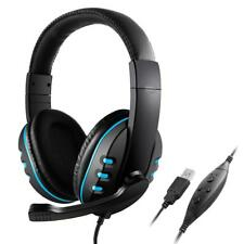 Stereo Over-The-Ear Headphones with Built-In Microphone for PS3 PS4 PC