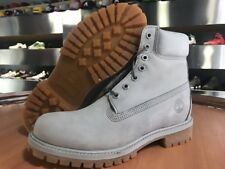 "TIMBERLAND MEN'S 6"" PREMIUM WATERPROOF BOOTS A1GAU LIGHT GREY WATERBUCK"