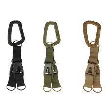 MOLLE Nylon Webbing Keychain Clip Quick Release Buckle Key Ring Backpacking