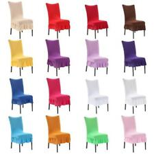 Stretch Removable Washable Universal Short Dining Chair Seat Cover Slipcover