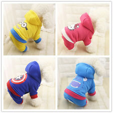 New Pet Dog Autumn Winter Hoodie Doggie Clothes Carton Warm Coat Lovely Apparel