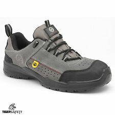 Zephyr ZX45 S1 SRC ESD Grey Suede Steel Toe Cap Safety Trainers Work Shoes PPE