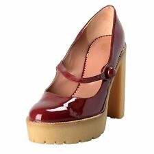 Red Valentino Women's Platforms Mary Janes High Heels Shoes Size 7 8 9