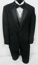Black Perry Ellis Tuxedo with Pants, Vest, & Bow Tie Wedding Prom Formal Mason