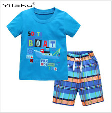 New  Clothing Sets Summer Boys Clothes Children Clothing T-shirt+Shorts Kids