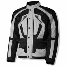 Olympia Richmond Mens Textile Motorcycle Jacket Silver