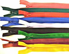 """ZIPS INVISIBLE/CONCEALED 22"""" 56CM NYLON X4, ASSORTED COLOURS"""
