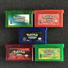 1/5PCS Nintendo Game Cards Sapphire Ruby Emerald Red Green For GBM/GBA/SP/NDS