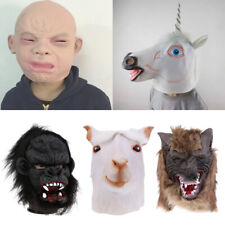 Latex Full Head Overhead Animal Cry Baby Unicorn Cosplay Dress up Carnival Mask