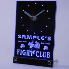 tncqj-tm Personalized Fight Club Bring Weapon Neon Led Table Clock