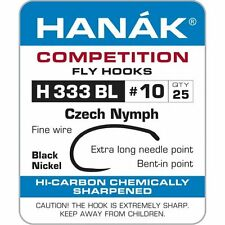 Hanak Competition Barbless Fly Fishing Hooks H 333 BL 25pk